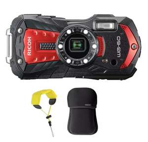 Ricoh WG-60 Tough Waterproof Digital Camera Case and Strap Bundle: Red £199.20 w/code @ Camera Centre UK eBay