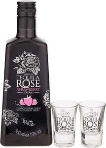 Tequila Rose Gift Set with 2 shot glasses, 500 ml £16.99 (Prime) £21.48 (Non Prime) at Amazon
