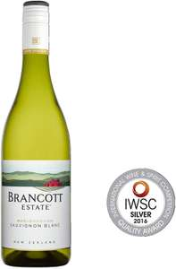 Brancott Estate Marlborough Sauvignon Blanc, New Zealand Crispy, White Wine, 75 cl, Case of 6 - £17.86 (Prime or + £4.49 NP) @ Amazon