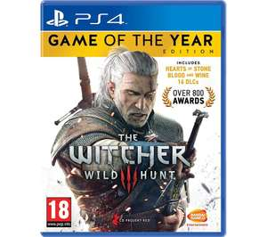 The Witcher 3 Game of the Year Edition - PS4 & Xbox £16.99 plus free delivery/c&c @ Currys