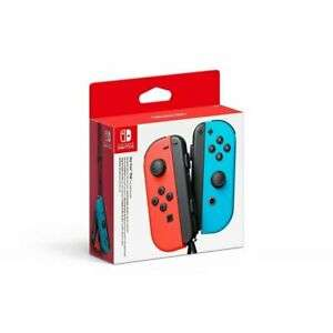 Nintendo Switch Joy-Con Controller Pair Neon Red/Neon Blue NEW - Free delivery £55.79 @ eBay musicMagpie
