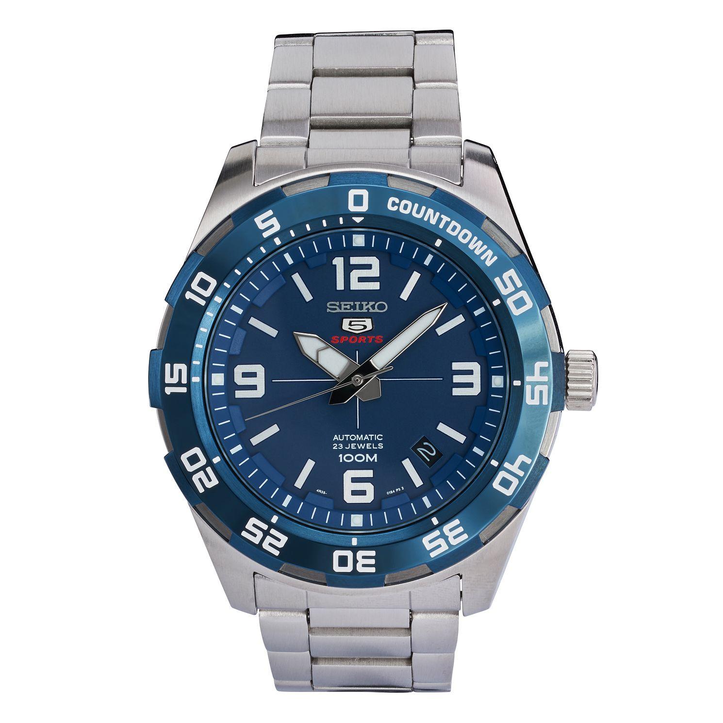 Seiko 5 Sports Automatic Men's Stainless Steel Bracelet Watch SRPB85K1, £105 at H.Samuel