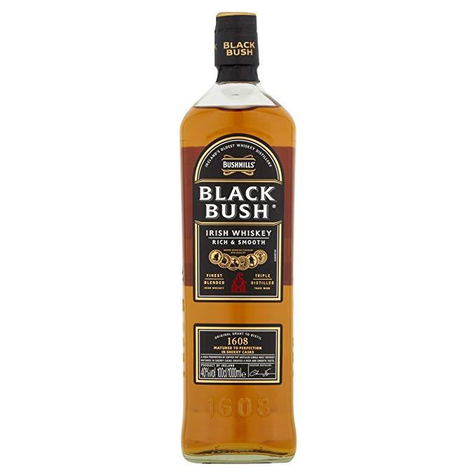 Bushmills Black Bush Irish Whiskey, 1 L £27.99 at Amazon
