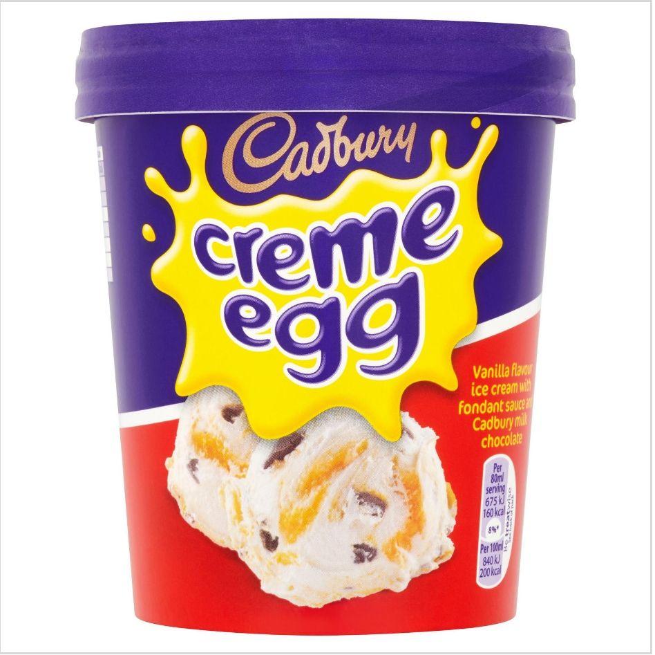 Cadbury Creme Egg 480ml / Cadbury Double Decker 480ml / Oreo Vanilla Flavour Ice Cream £2 at Iceland