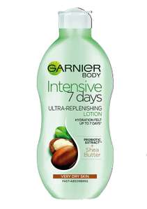 Garnier Intensive 7 Days Shea Butter Body Lotion Dry Skin 400ml £2.50 / £6.99 nonprime at Amazon (£2.37 with S&S)