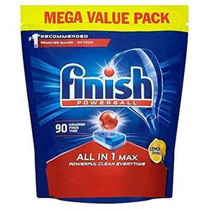Finish All in 1 Max Dishwasher Tablets Lemon Scent, 90 Tablets £9.99 / £14.48 non prime at Amazon