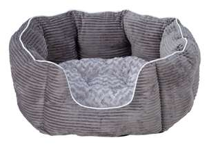 Grey Cord Oval Pet Bed - Medium - £11.99 @ (free click and collect ) @ Argos. More pet bed offers in the post.