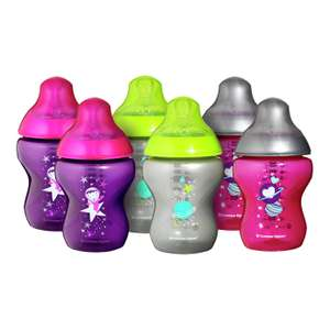 Tommee Tippee 6 x 260ml Decorated Bottles £12.99 @ Argos
