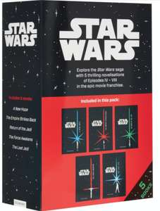 Star Wars 5 Book Junior Novel Collection By Egmont £4.99 @ Tkmaxx (£1.99 Click & Collect)
