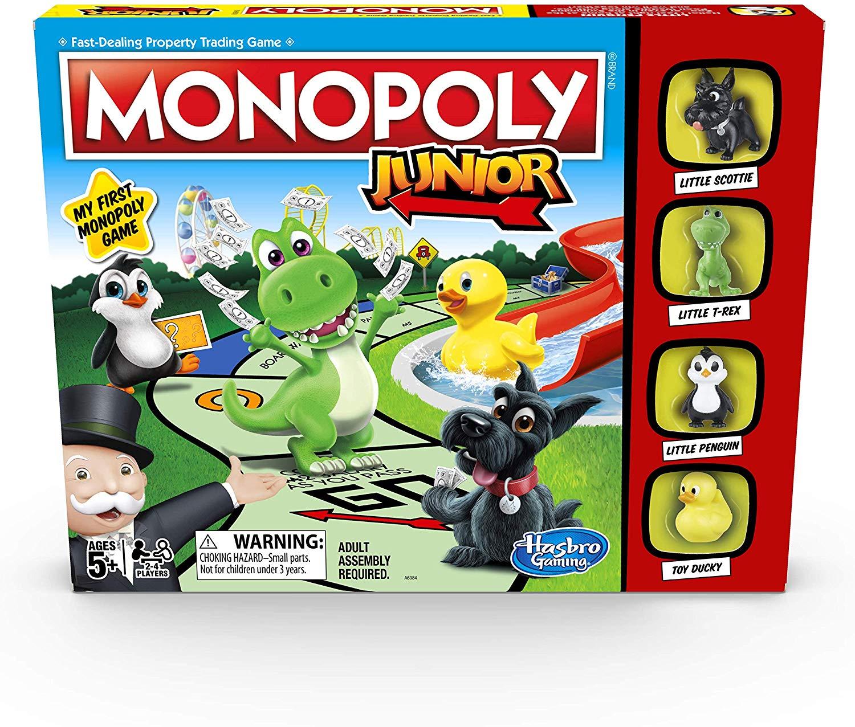 Hasbro Gaming Monopoly Junior Game £10 (Prime) + £4.49 (non Prime) at Amazon