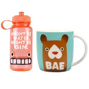Jolly Awesome Water Bottle and Mug Bundle now £7.99 + Free delivery @ IWOOT