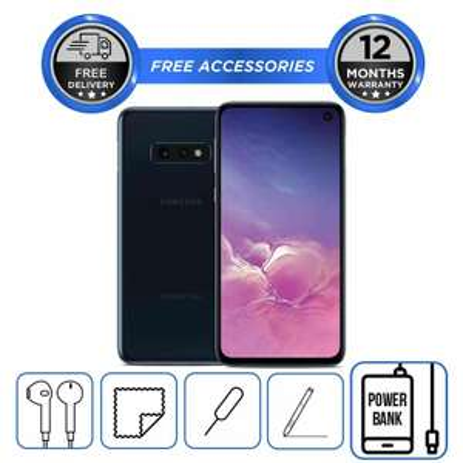 "Samsung Galaxy S10e - 128GB / Prism Black / Unlocked / ""Pristine"" Open Box Condition - £303.36 using code @ hitechelectronics / eBay"