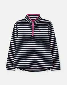 Joules Sweatshirt with Zip Neck - Navy and pink Stripe £14.95 With Free Delivery From Joules eBay store