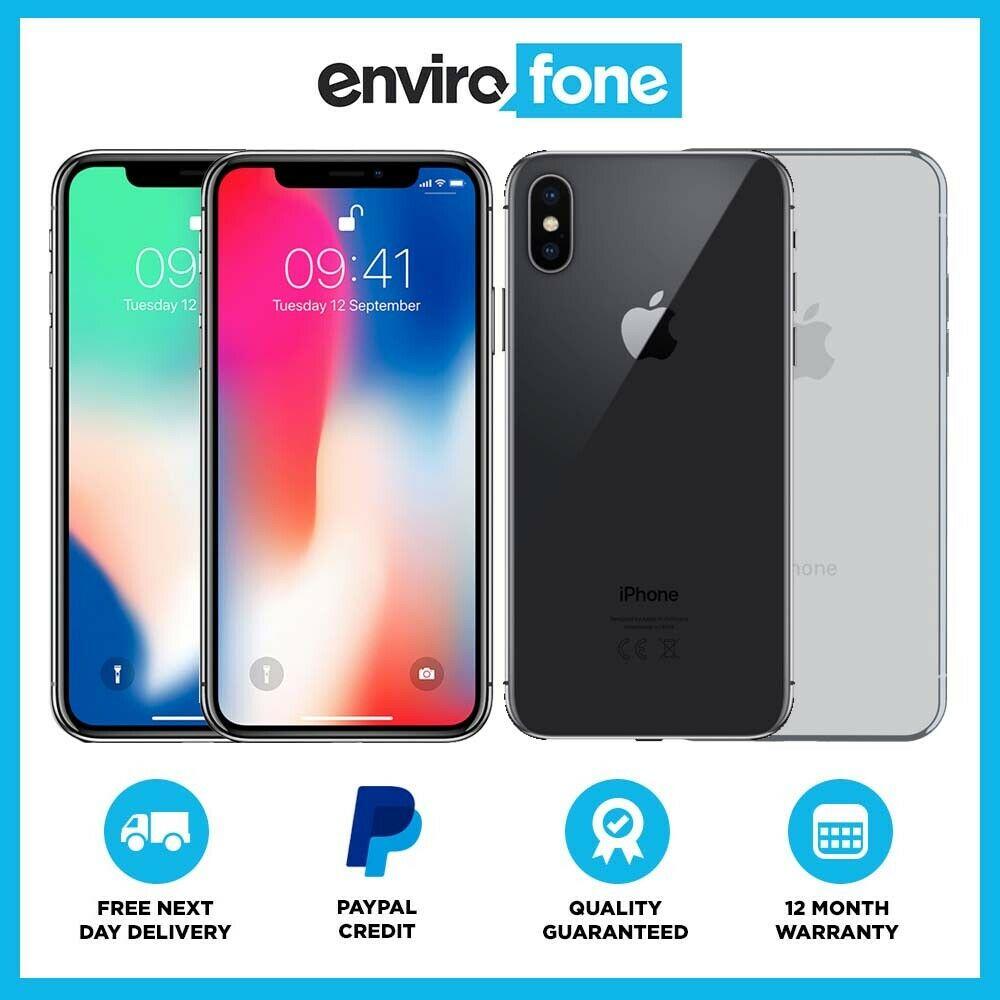 Refurbished Apple iPhone X (iPhone 10) 64GB space Gray Unlocked SIM Free Smartphone £307 ebay / envirofoneshop