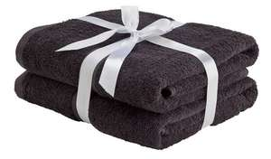 Home Pair of Bath Towels - Black/Pink/Yellow for £2.40 (Free Click & Collect) @ Argos