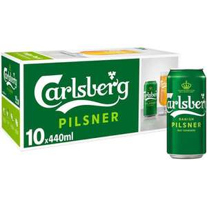 Morrisons (Gloucs) in store offer for 10x440ml cans of Carlsberg for £5