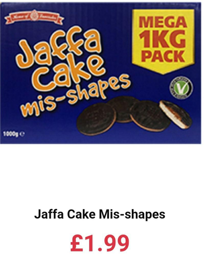 1kg Jaffa Cake mis-shapes Mega Pack - £1.99 @ Farmfoods