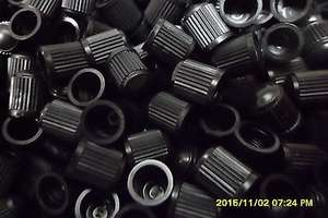100 x Black Plastic Replacement Dust Caps/Stems for Cars,Bikes,Tractors £1.40 delivered at chw1951/ebay