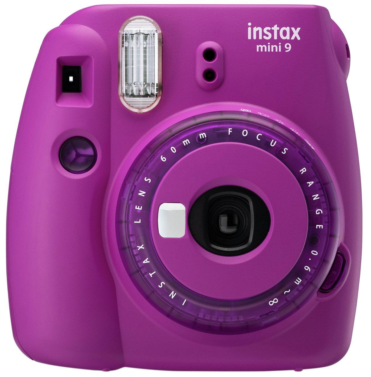 Instax Mini 9 Instant Camera - White / Pale Blue / Purple / Pink / Yellow - £44.99 @ Argos