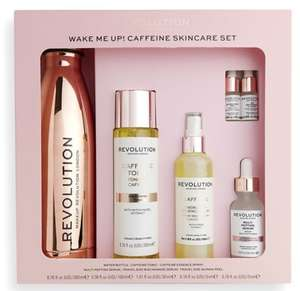 Revolution skincare radiant rose and wake me up caffeine collection sets £13.30 Boots Derby