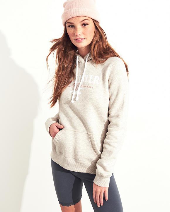 Hollister Embroidered Logo girls Hoodie £9 delivered @ Hollister