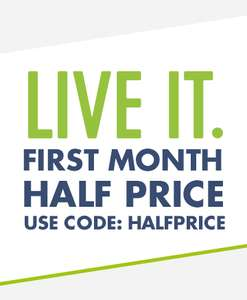 First Month Half Price Live It Membership - £9.49 (WIth Code) @ TheGym