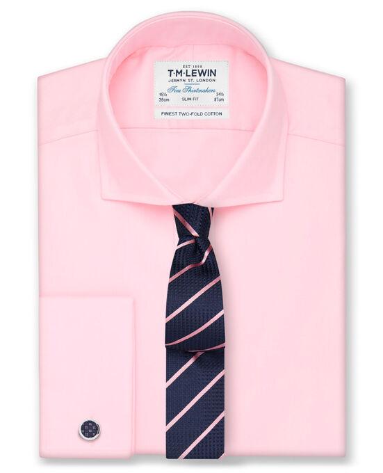 T.W Lewin - Pink Twill Cutaway Collar Slim Fit Shirt £14.95 FREE Click & Collect