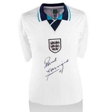 Paul Gascoigne Front Signed England Euro 96 Shirt - £69.99 @ A1 Sporting Memorabilia