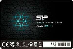Silicon Power 512GB 3D NAND A55 SLC Cache Performance Boost 2.5 inch SATA III SSD £48.42 Delivered With Code @ ebuyer / eBay