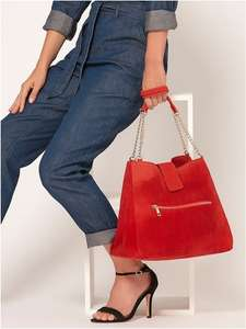 Suede croc red bag £6 M&Co Free click and collect