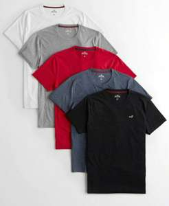 Must-Have Crewneck T-Shirt 5-Pack £27 @ Hollister with Free Shipping