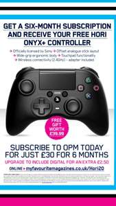 Hori Onyx Plus Controller plus 6 months PlayStation Magazine £30 My Favourite Magazines