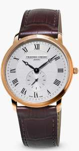 Frederique Constant FC-235M4S4 37mm Slimline Leather Strap FC235 Caliber Quartz Watch, Brown/White Approx £247.84 @ Amazon US/Flying Fashion