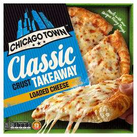 Chicago Town Takeaway Medium Classic Crust Cheese Pizza 340g / Chicago Town Takeaway Medium Classic Crust Pepperoni Pizza £1.50 @ Iceland