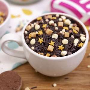 Zillionaire Chocolate Mug Cakes 3x portions free + £1.99 postage at Bakedin with Vodafone VeryMe Rewards