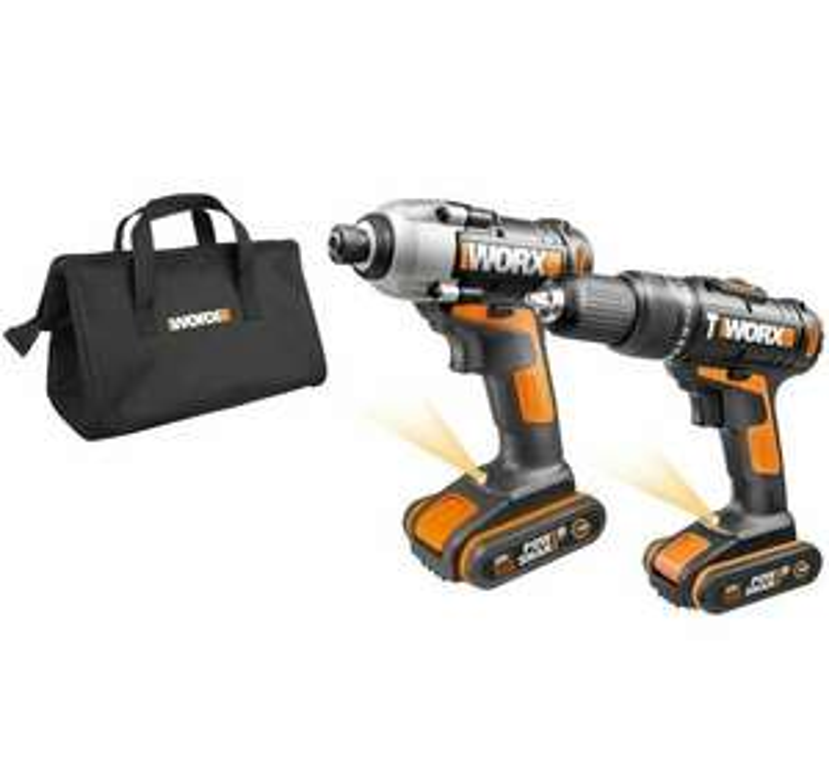 WORX WX938 18V (20V MAX) Cordless Impact Driver and Hammer Drill Twin Pack £89.99 ebay / positecworx