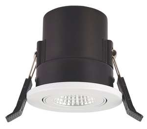 Lap Adjustable Fire Rated LED Downlight Gloss White 560lm 9W 220-240V (More in OP)- £3.99 + Free Click & Collect @ Screwfix