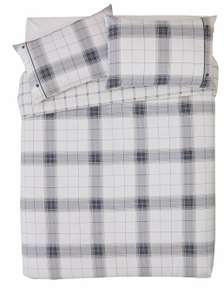 Argos Home Cosy Grey Brushed Check Brushed Cotton Reversible Bedding Set - Double - £9.99 Delivered @ Argos/eBay