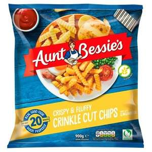 Aunt Bessie's Homestyle Crinkle Cut Chips 900g , Now £1 @ Sainsbury's