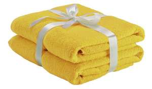 Argos Home Pair of Bath Towels Black/Pink/Mustard colours - £2.40 ( free click and collect ) @ Argos