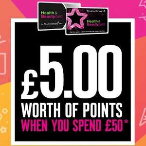 500 bonus points on Superdrug health & beauty card - TODAY ONLY Both instore & online