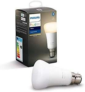 Philips Hue White bulb (B22 / E27) £4.99 + £4.49 delivery (NP) with code (Works With Google Home / Alexa) @ Amazon [Selected Customers]