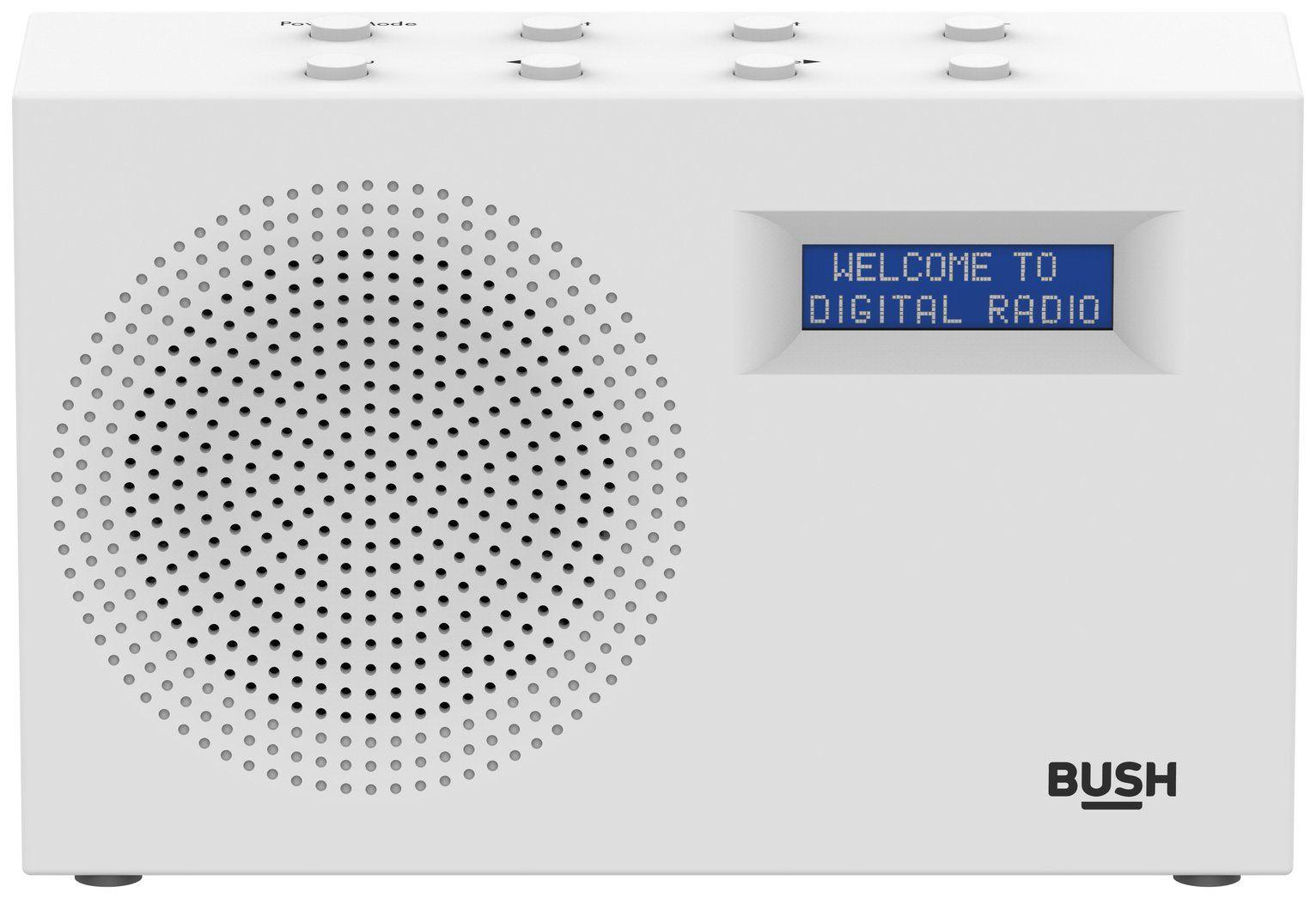 Bush Compact DAB/FM Radio – White £17.99 C&C @ Argos
