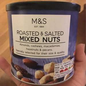 M&S Roasted and Salted Mixed Nuts 320g - £1 Reduced to Clear - Instore