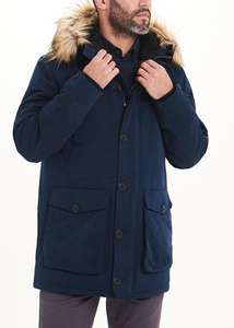Up to 50% off Selected Men's wear, Navy Hooded Parka Coat £22.50. Prices starting from £4 for T-shirts with free C&C From Matalan