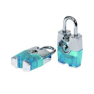 Smith & Locke Aluminium Cylinder Steel open shackle Padlock (W)24.5mm, Pack of 2 £3 C&C at B&Q (more in OP)