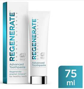 REGENERATE™ Advanced Toothpaste – 75ml £6.66 delivered from Amazon.co.uk (Prime or + £4.49 Non Prime)