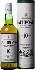 Laphroaig 10 Year Old Islay Single Malt Scotch Whisky, 70 cl £28 at Amazon