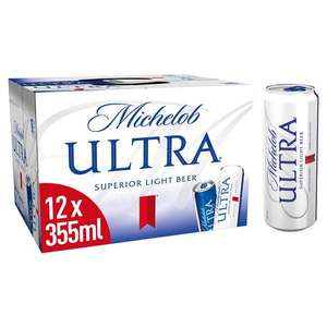 Michelob Ultra Lager 12 x 355ml £6 at Sainsburys Southend