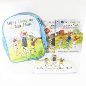 We're Going on a Bear Hunt Backpack and 3 Book Collection plus free World Book Day gift for £6.50 delivered (using code) @ Books2Door